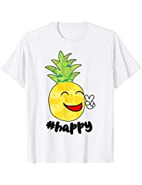 1ce53f9c38d94f Happy Face Smiley Peace Sign Cheeky Pineapple Emoji Funny T-Shirt