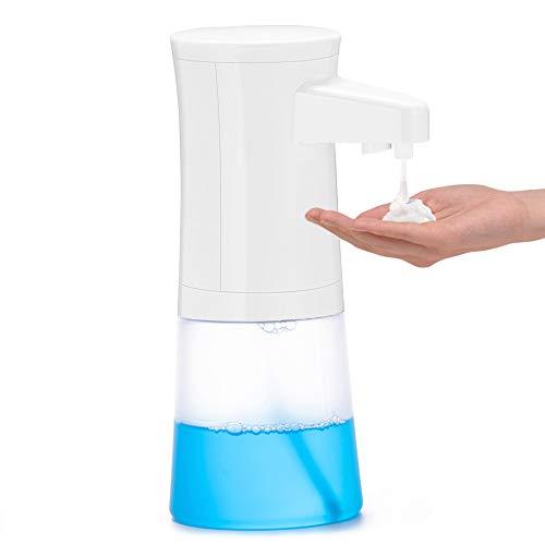 Massway Dispensador de jabón automático, Espuma Dispensador Sensor de jabón Espuma sin Contacto Dispensador de Manos Dispensadores de 350 ml para baño, Cocina y baño