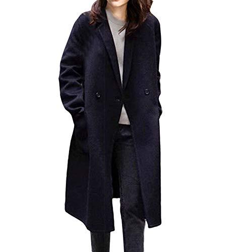 Hniunew Plus Size Boucle Wool Coat Damen Wollmantel Marble Long Blazer Winterjacke Lange Foldover Kragen Pullover Tunika Bluse Tops Gothic Cocktail Landmantel LäSsige Windjacke -