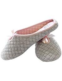 FakeFace - Zapatillas de estar por casa para niña gris