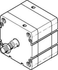 Festo - 536353 - Modèle ADN-80-10-A-P-A - Cylindre Compact