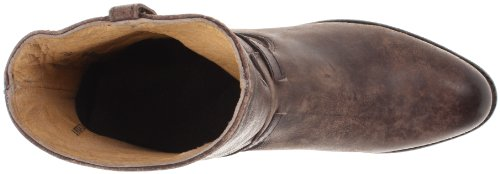 Frye lindsay short ronde plate en cuir mode neuf femme Dark Brown