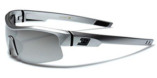 DXtreme Half Frame Men's Cycling Baseball Surf Shield Sports Sunglasses - Silver