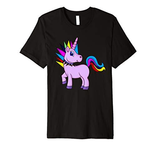 Einhorn Punk Rock T-Shirt (Punk-rock-kleidung Für Frauen)