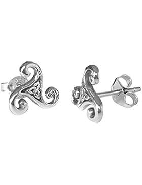 Ohrstecker Keltische Triskele Sterling Silber