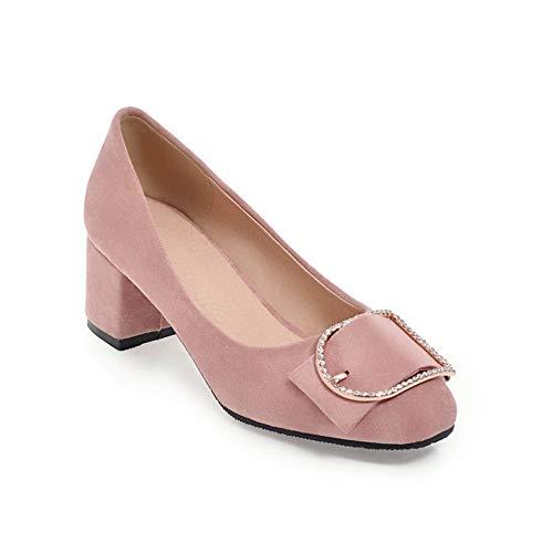 BalaMasa Damen Rein Bequem Reise APL11702 Blockabsatz Pumps Pink - 37 EU (Etikette:37) Patent Leather Cork Wedge Sandal