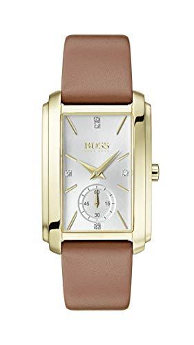 Hugo Boss Watch Reloj Analógico para Mujer de Cuarzo con Correa en Cuero 1502439