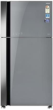 Hitachi 565 L 3 Star Frost Free Double Door Refrigerator(RVG 610 PND3 GGR, Grey, Inverter Compressor)