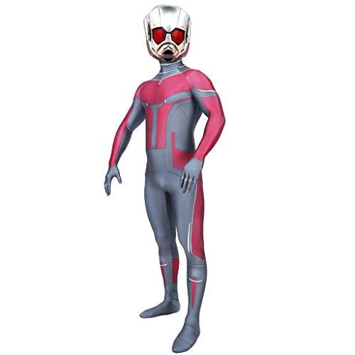 QWEASZER Ant-Man und die Wasp, Cosplay Kostüm Kostüm Film Rollenspiel Kleidung Kinder Erwachsene Body Spandex Overalls,Ant man-S (Ant Man Film Kostüm)