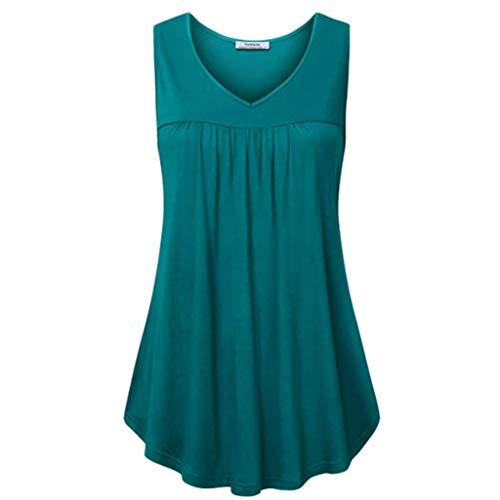 Juliyues Tank Tops Damen Summer Solid Vest Trägershirts Tanktop Frauen Mädchen Casual Sleeveless T-Shirt Weste Oberteil Bluse