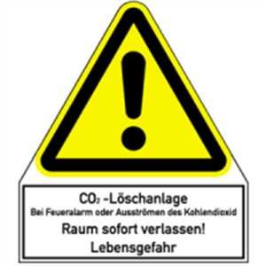 Aufkleber CO2-Löschanlage ... 24 x 21cm Folie