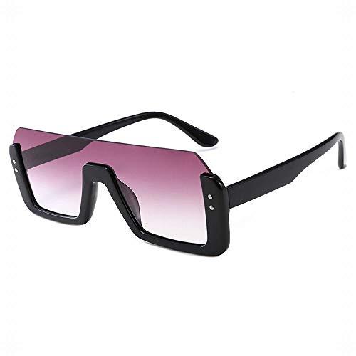 MeiqiLN Sonnenbrillen Siamese Mesh Rot Half Frame Brillen Reparatur Gesicht Europa Und Den Vereinigten Staaten Trend Sonnenbrillen 5,62 * 1,96 In Allmählich Lila