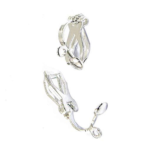 Royalr 12st Frauen Metallohrclips Nicht durchbohrten Clip-on-Ohrring-Konverter handgemachte Fertigkeit DIY Zubehör (Anhänger-konverter-kit)