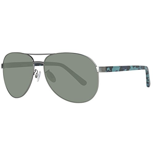 Timberland sonnenbrille tb9086 6209d, occhiali da sole uomo, argento (gunmetal), 62
