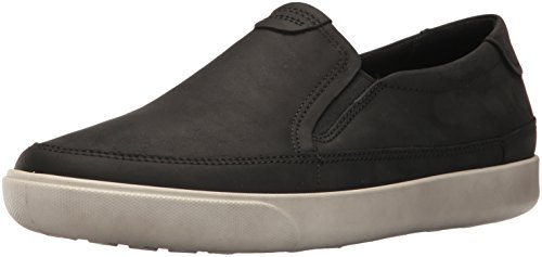 Ecco Men's Gary Slip On Fashion Sneaker, Black, 40 EU/6-6.5 US