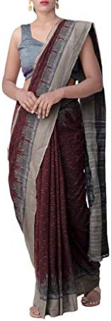 ODISHA HANDLOOM Women's Sambalpuri Cotton Saree Without Blouse Piece (m ol jhr_Mar
