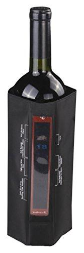 Vin Bouquet FIE 108 - Funda enfriadora con termómetro, Color Negro
