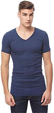 COTTONIL Men's Half Sleeve V Neck Undershirt Derby, M,