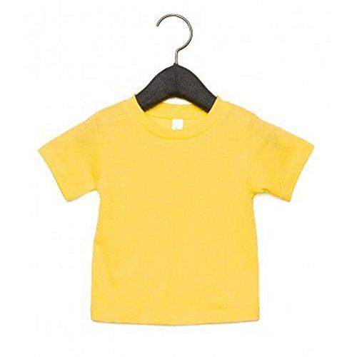 Bella + Canvas Camiseta de Manga Corta con Cuello Redondo Para Bebé (3-6 Meses/Amarillo)