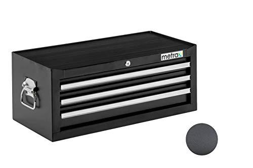 Werkzeugkiste, Aufsatz, 3 Schubladen, schwarz