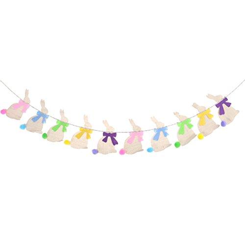 Luoem ghirlande bandierine in tessuto juta decorazioni pasquali addobbi coniglietto pasquali