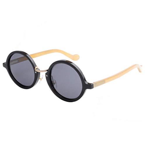 NSMZ Hochwertige Sonnenbrille aus indischem Horn, Titanium Qingrun, 120 ml, Marken-Sonnenbrille,Blue