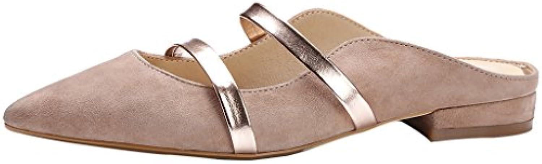 calaier femmes cacommon cacommon cacommon orteil 1cm flat glisser sur des mulets sandales chaussures b071vh3wvg parent 2fbdd2