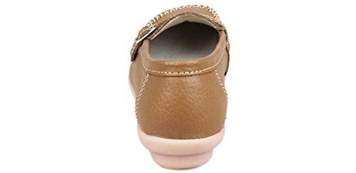 Fangsto  Loafer Flats, Basses femme Kaki
