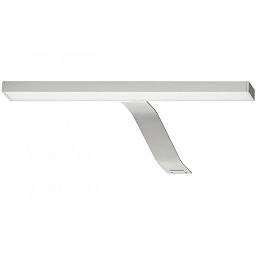 GedoTec Moderne Design Anbauleuchte LED-Leuchte Spiegelleuchte 2032 Aluminium silber eloxiert | Badleuchte geprüft nach IP 44 | Spiegel-Lampe 12V mit 15W Netzteil mit Schalteranschluss | Schrankleuchte kaltweiß 4000 K - Energieeffizienzklasse: A+ | Markenqualität für Ihren Wohnbereich