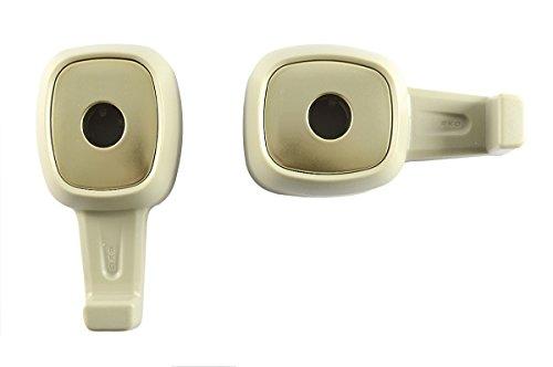 2-x-Lilware-Universal-Auto-Kopflehnen-Mini-Hanger-Packung-Mit-2-Rcksitz-Haken-fr-Tasche-Gepck-Bekleidung-Geldbrse-Handtasche-Multifunktionale-Handliche-und-Leichte-Auto-Veranstalter-Beige