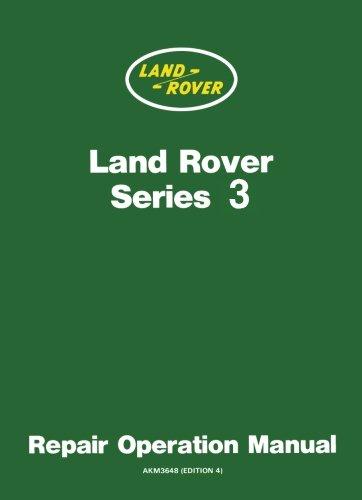 Land Rover Series 3 Repair Operation Manual: Owners Manual por Brooklands Books Ltd