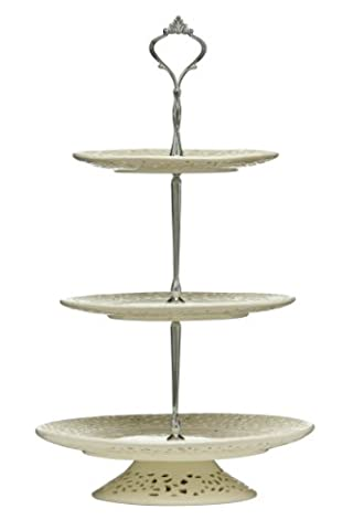 Premier Housewares 3 Tier Lace Cake Stand -