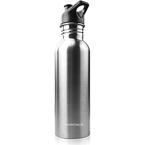 800mlBotella de bicicleta, Sahara Sailor botella Portátil de agua de en Acero Inoxidable