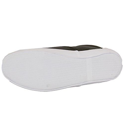 Chaussures Pour Hommes Rock & Religion Chaussures Baskets Lacets Cuir Daim Look Lacet Charbon - MELVIN