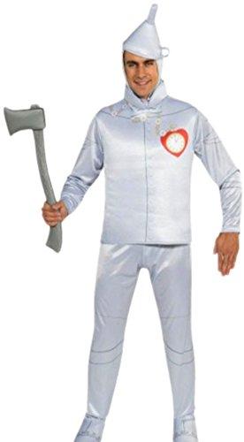 erdbeerloft - Herren Zinnmann, Tin Man, Zauberer von Oz, Kostüm, M-XL, Silberfarben (Herren Wizard Of Oz Kostüme)
