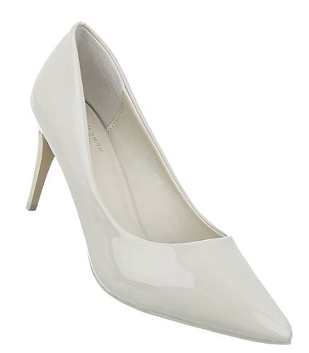 Damen Schuhe Pumps High Heels Creme 40