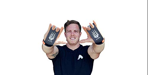 Bear KompleX 2 hole Gymnastics grips are great for WODs, pullups, weight lifting, chin ups, cross training, exercise, kettlebells, more. Protect your palms from rips and tears! Small 2hole CARBON