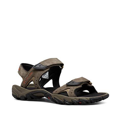 Columbia Männersandalen, Santiam 2 Strap, Größe 48, braun (Mud, Heatwave) (15 Für Größe Sandalen Männer Leder Aus)