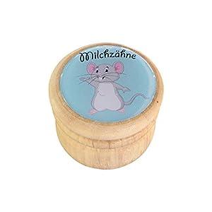 Milchzahndose, Zahndose Milchzähne Bilderdose aus Holz mit Drehverschluss in diversen Motiven für Jungen und Mädchen mit…