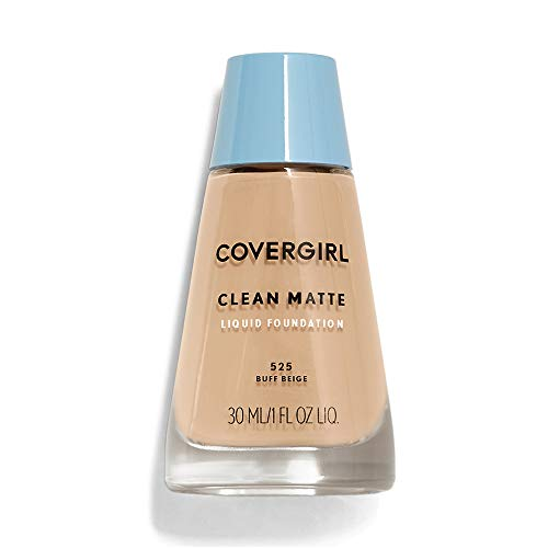 CoverGirl Clean Oil Control Liquid Makeup, Buff Beige (W) 525, 1.0 Ounce Bottle by COVERGIRL