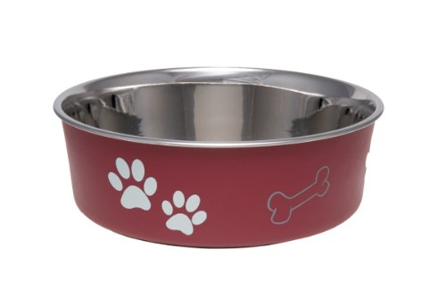LOVING PETS 1770 Bella Schüssel Dog Bowl, M, 750 ml, Merlot -