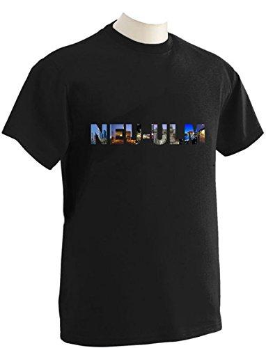 T-Shirt mit Städtenamen Neu Schwarz