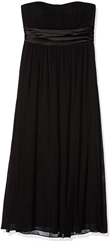 Ever Pretty Strapless Ruched Bust Black Chiffon Long Evening Party Dress 09955
