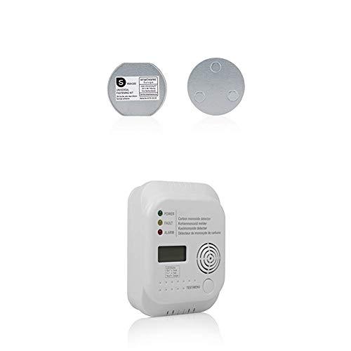 Smartwares RMAG60 Magnetbefestigungsset für Rauchmelder, 6cm Durchmesser, Silber, 6 cm + Flamingo FA370 Kohlenmonoxidmelder - Sensor mit 7 Jahren Lebensdauer