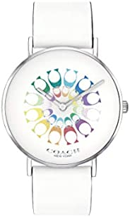 Coach Women'S Multicolor Dial White Calfskin Watch - 1450