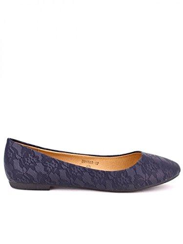 Cendriyon, Ballerine Dentelle Blue BELLI Chaussures Femme Bleu