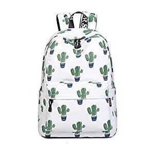 Joymoze Bonita Mochila Escolar Impermeable para Niños y Niñas – Cartera Ligera de Estampado Elegante Cactus