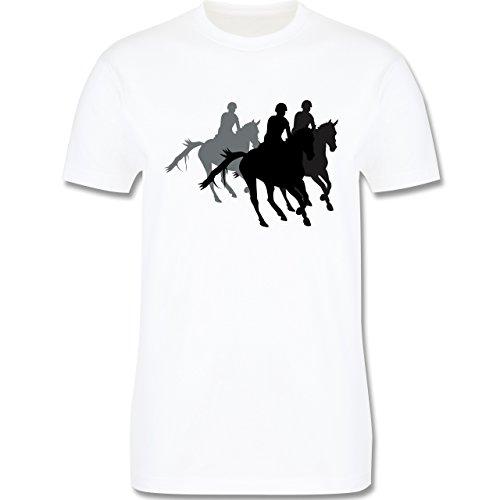Reitsport - Freizeitreiten Ausreiten Reiten - Herren Premium T-Shirt Weiß