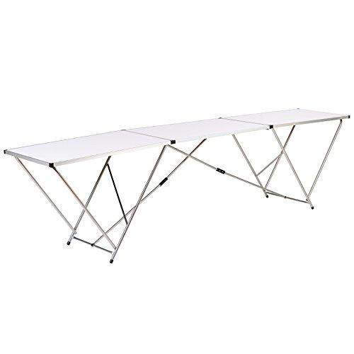 Hartleys Large Table Pliante 3m en Aluminium - Blanc - Evénement/Jardin/Papier Peint