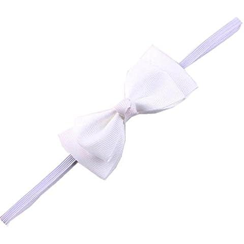 Diademas para bebé Sannysis Conejo arco Hairband, Venda del Bowknot (Blanco)